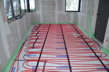 Fußbodenheizung EG - Fa. Hagleitner Installationen